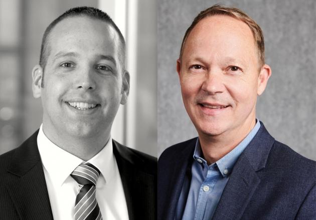 Benjamin Frank (li.) beauftragt den DMV und Co-Geschäftsführer Marco Graffitti mit der EV-Vertriebsbetreuung der Axel-Springer-Zeitschriften.